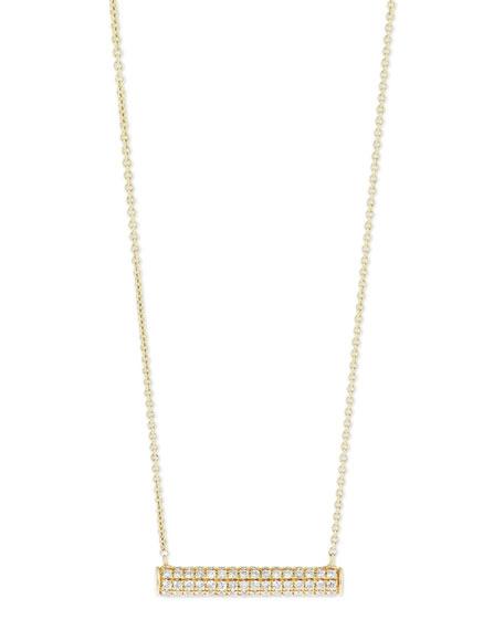 Sydney Evan Pavé Diamond Bar Roll Necklace OvgFCabX