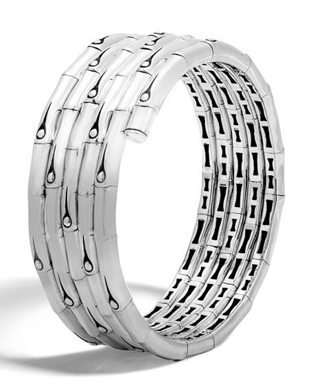 John Hardy Bamboo Sterling Silver Coil Bracelet