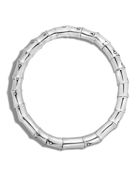 Medium Sterling Silver Soft Strung Necklace