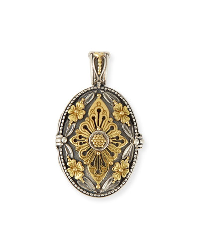 18K Ornate Oval Locket Enhancer