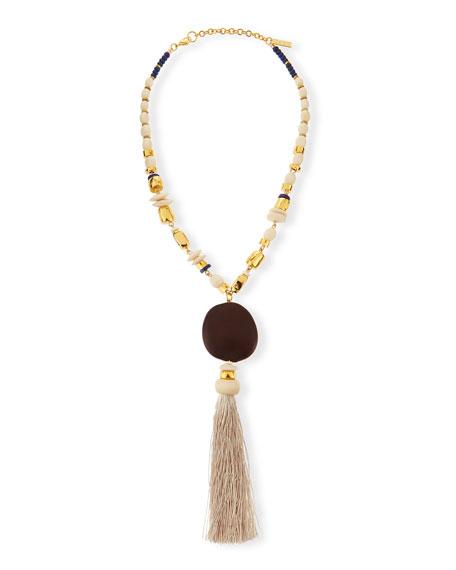 Lizzie Fortunato Noa Noa Tassel Pendant Necklace
