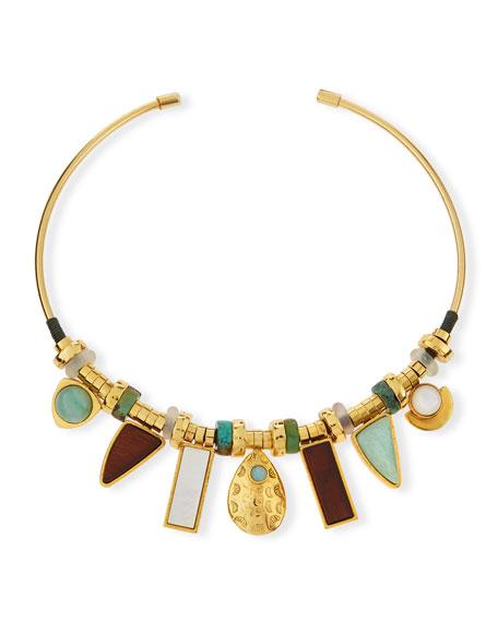 Lizzie Fortunato Azure Seas Collar Necklace