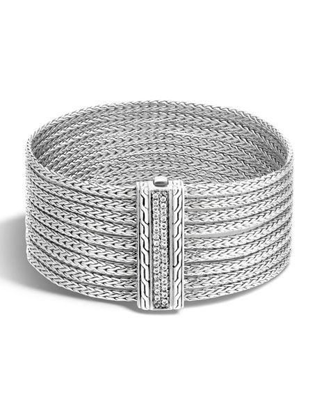 Classic Chain Nine-Row Diamond Bracelet