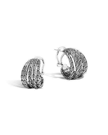 John Hardy Classic Chain Small Huggie Earrings
