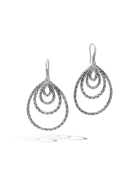 John Hardy Classic Chain Concentric Drop Earrings