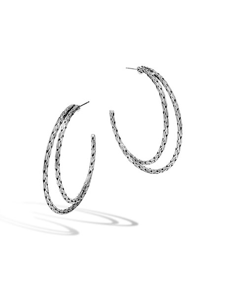 John Hardy Classic Chain Medium Double-Hoop Earrings