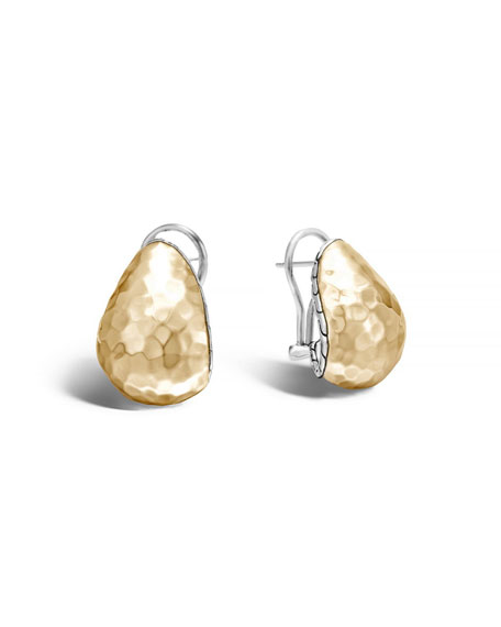 Hammered 18K Gold Buddha Belly Earrings