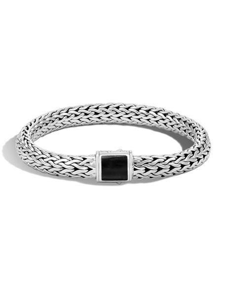 Medium Batu Classic Chain Onyx Bracelet