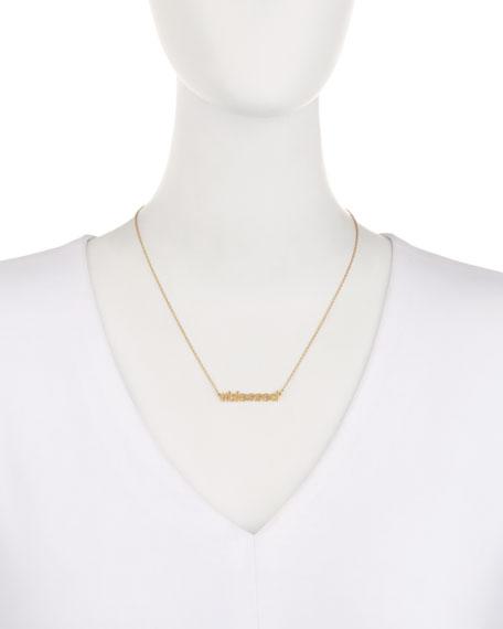 18K Gold Vermeil #blessed Necklace