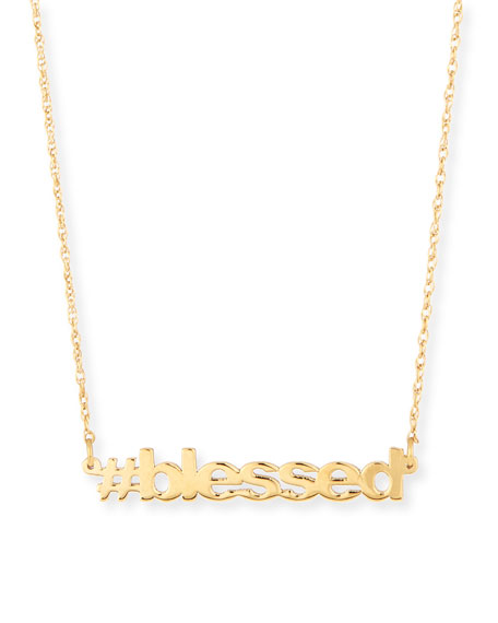 Jennifer Zeuner 18K Gold Vermeil #blessed Necklace