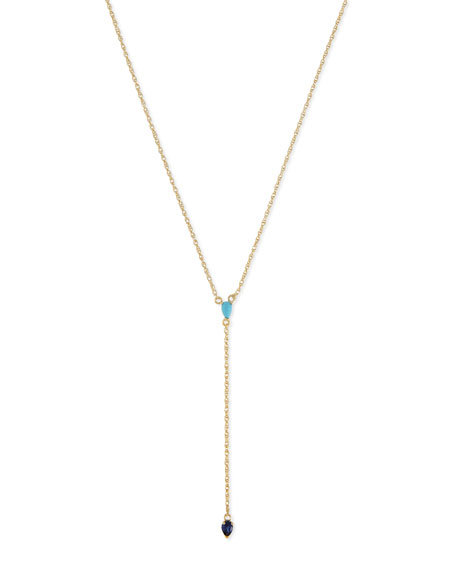Jennifer Zeuner 18K Chiara Lariat Necklace