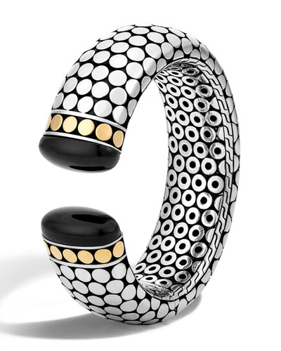 Dot Batu Onyx Wide Kick Cuff
