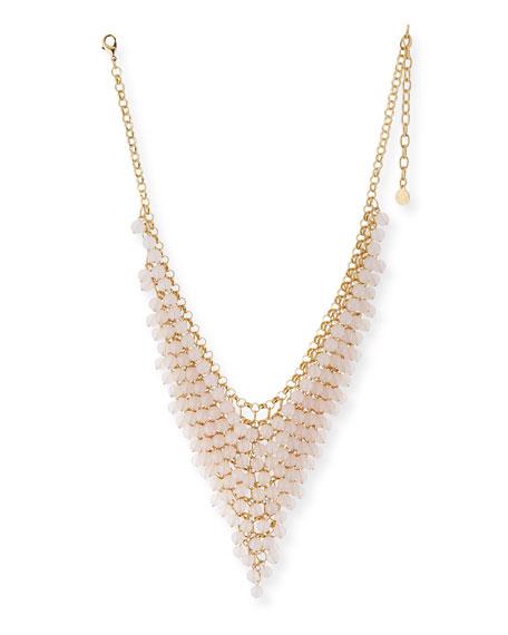 R.J. Graziano Shaky Bead Statement Necklace, Blush