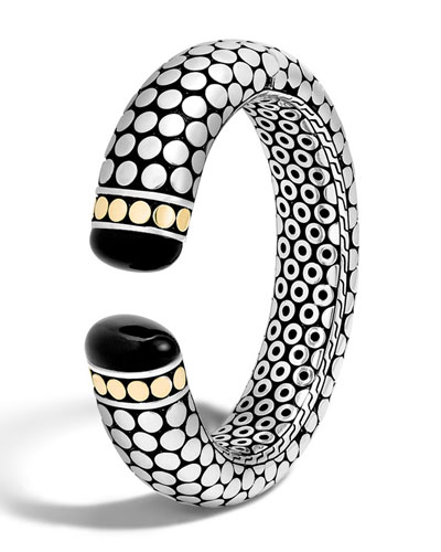 Dot Batu Medium Onyx Kick Cuff