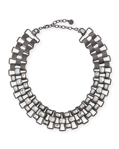 Statement Collar Necklace, Gunmetal