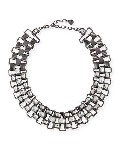 R.J. Graziano Statement Collar Necklace, Gunmetal