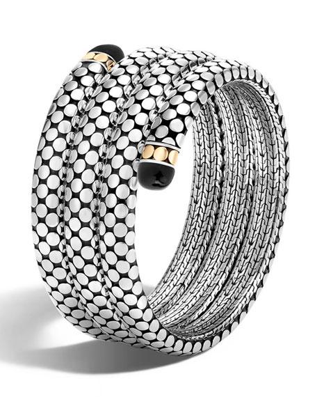 John Hardy Dot Triple-Coil Onyx Bracelet