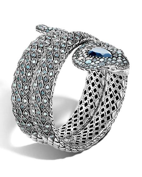John Hardy Cobra Legends Lava Sterling Silver Bracelet