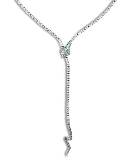 John Hardy Legends Cobra Lava Long Y-Drop Necklace