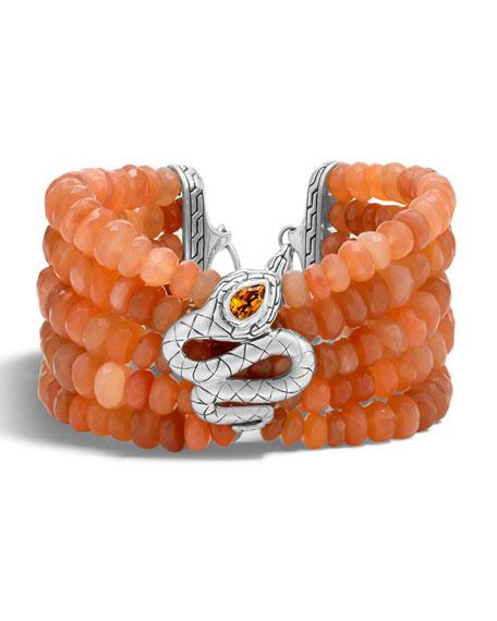 John Hardy Legends Cobra Batu Peach Moonstone Bracelet