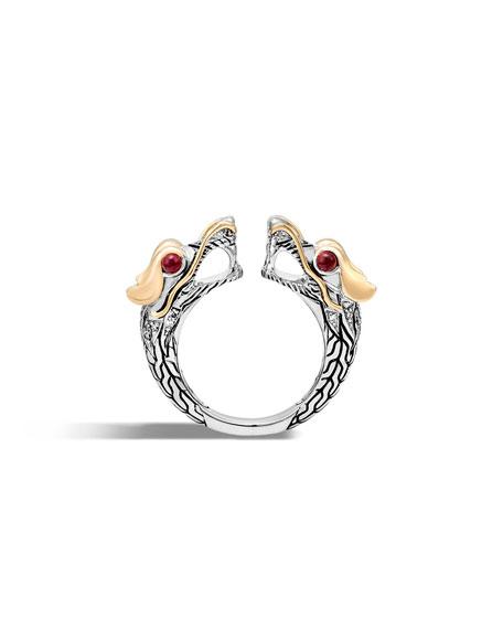 Legends Naga 18K Gold & Silver Ring