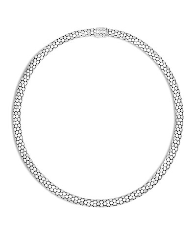 Dot Small Sterling Silver Chain Necklace, 18