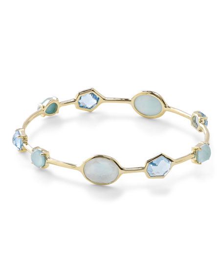 Ippolita18K Gold Rock Candy Multi-Stone Bangle in Waterfall
