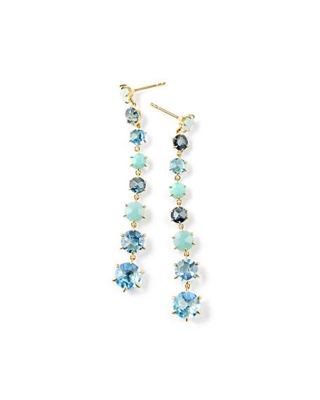 Ippolita18K Rock Candy 8-Stone Dangle Earrings in Waterfall