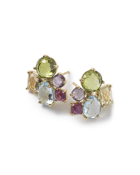 Ippolita 18K Rock Candy Mixed Cluster Earrings in