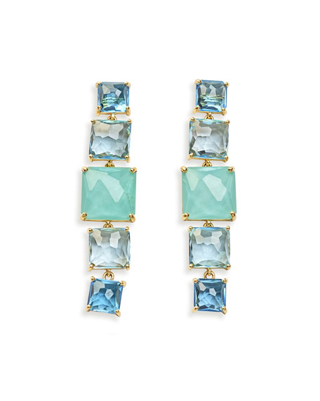 Ippolita 18k Rock Candy 5-Stone Linear Earrings in Waterfall