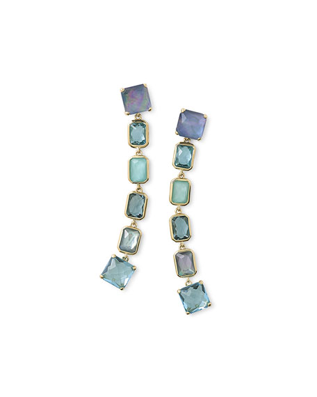 Ippolita18K Rock Candy Extra-Long 6-Stone Earrings in Waterfall