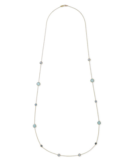 18K Gold Rock Candy® Long Station Necklace, Waterfall