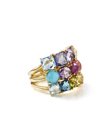 Ippolita 18K Rock Candy Mixed-Stone Cluster Ring in