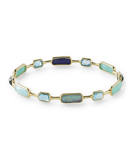 Ippolita 18K Rock Candy 12-Stone Bangle in Waterfall