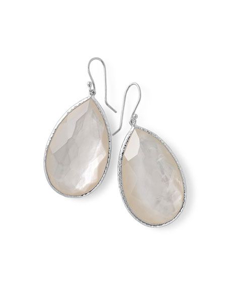 Ippolita Large Pear-Shaped Earrings in Clear Doublet