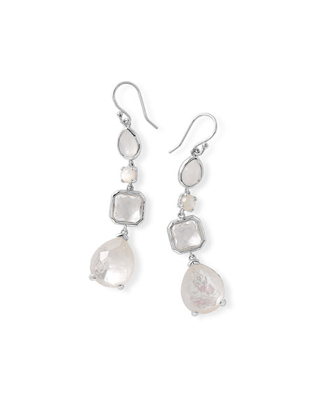 Four-Stone Linear Mother-of-Pearl Drop Earrings