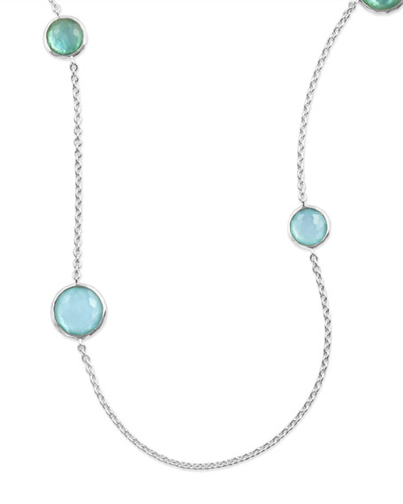 Ippolita Sterling Silver Lollipop Station Necklace in Blue
