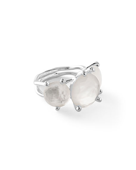 925 Rock Candy 3-Stone Ring in Quartz Doublet, Size 7