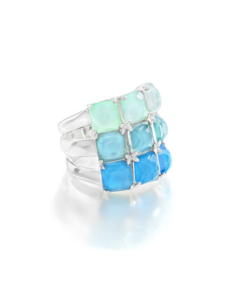 Ippolita Rock Candy Three-Row Wide Colorblock Ring in