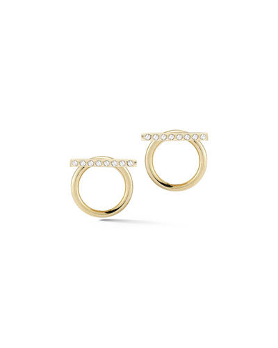 Leo Bar & Circle Jacket Earrings