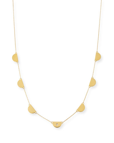 Ita Half-Circle Station Necklace, 28