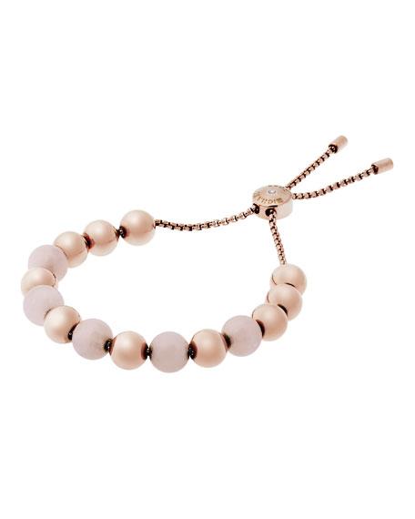 Michael Kors Large Bead Slider Bracelet, Rose Golden