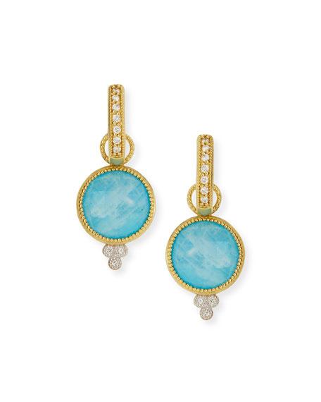 JudeFrances Jewelry Provence Round Turquoise Moonstone Earring