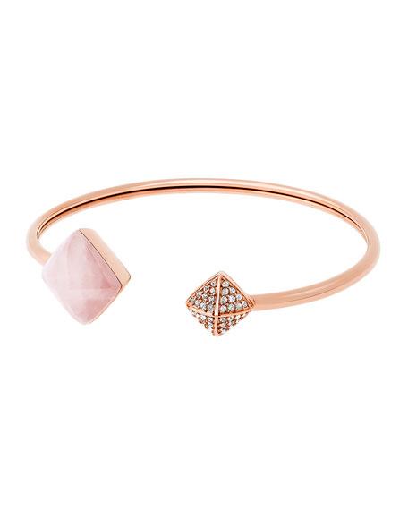 Michael Kors Pyramid Open Cuff Bracelet, Rose Golden