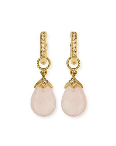 JudeFrances Jewelry Rose Quartz Briolette Earring Charms