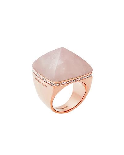 Pyramid Statement Ring, Blush/Rose Golden