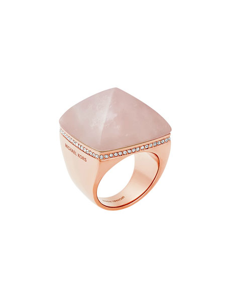 Michael Kors Pyramid Statement Ring, Blush/Rose Golden