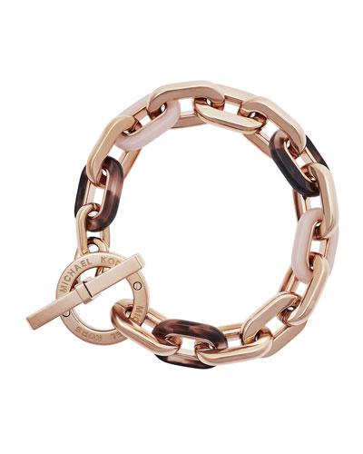 Chain-Link Toggle Bracelet