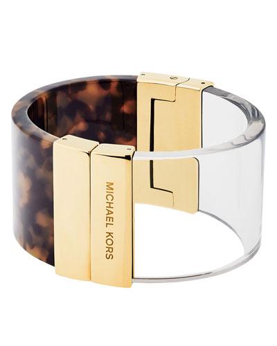 Colorblock Tortoiseshell Cuff Bracelet