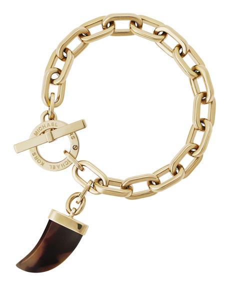 Tusk Charm Link Bracelet